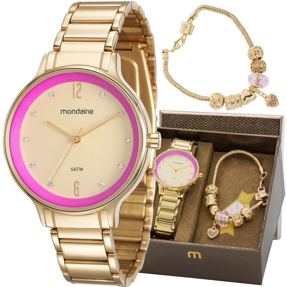5b741242ecf kit relógio mondaine feminino com pulseira 53567lpmvde1k1. Carregando zoom.