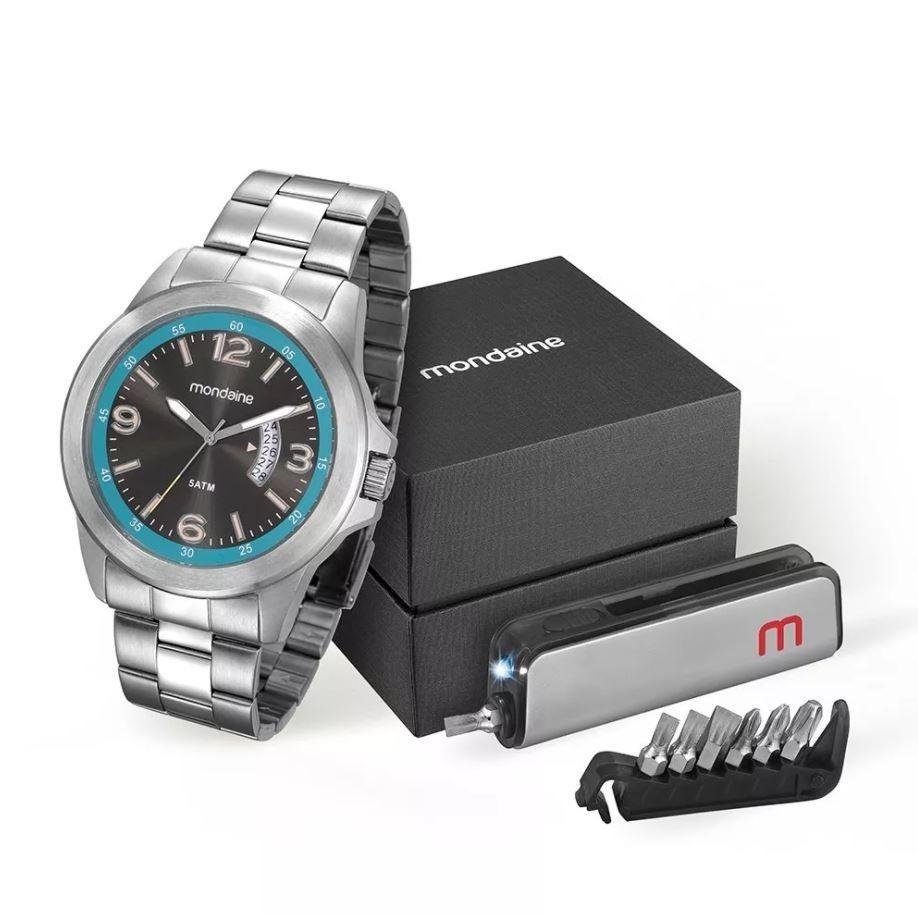 b52bff829e1 kit relógio mondaine masculino 78700g0mvna1k1. Carregando zoom.