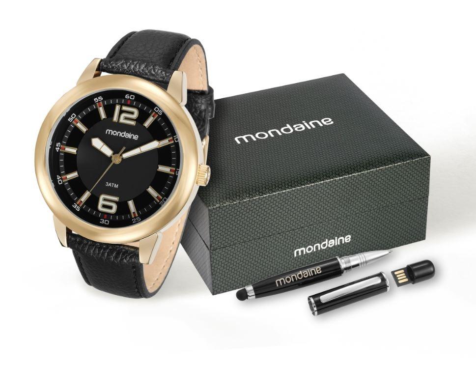 82ac8c960e0 kit relógio mondaine masculino caneta pendrive 83305pmkdh2k2. Carregando  zoom.