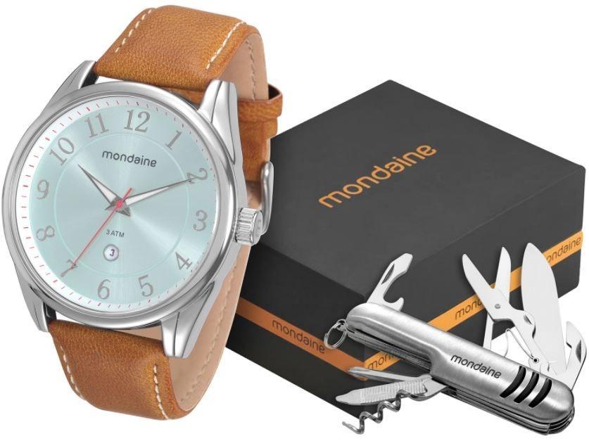 1eabba64b kit relógio mondaine masculino com canivete 76593g0mvnh2k1. Carregando zoom.