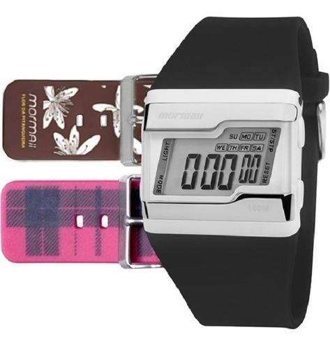 kit relógio mormaii feminino aquarela fz/8m rosa digital