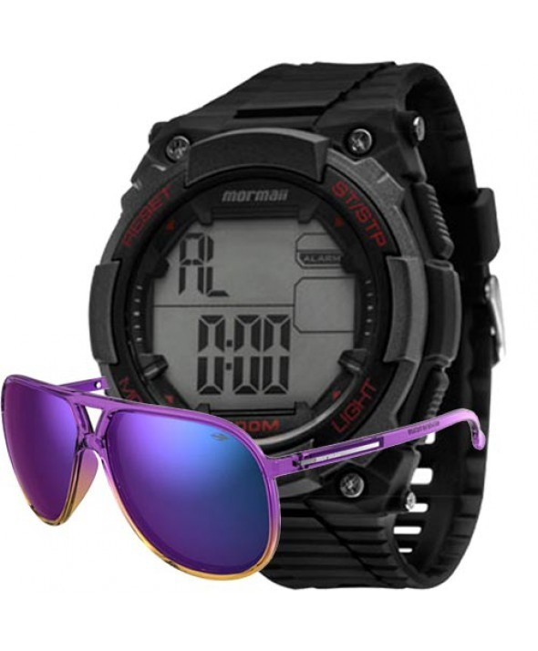 cd4801dd57f Kit Relógio Mormaii Masculino Com Óculos Mo15oc 44 - R  169