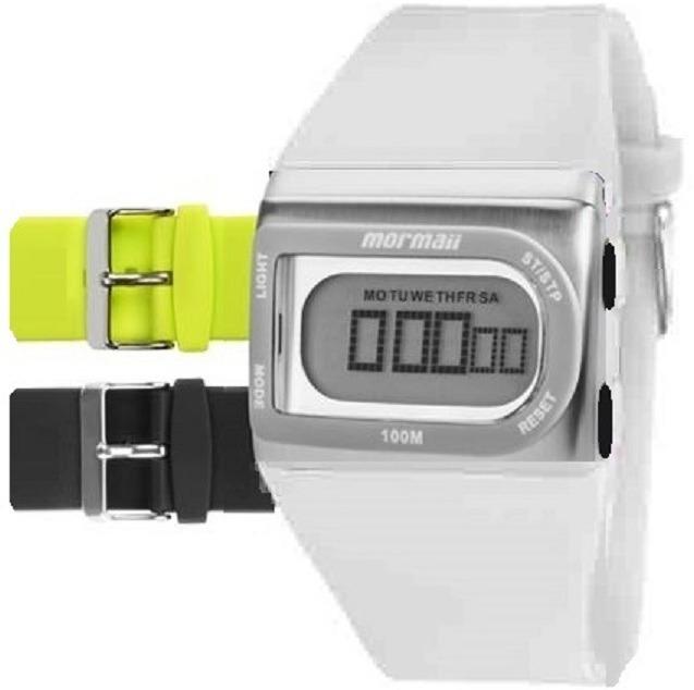 fc19fd770a0aa Kit Relógio Mormaii Unissex Aquarela Fzpr 8p Digital Branco - R  128 ...