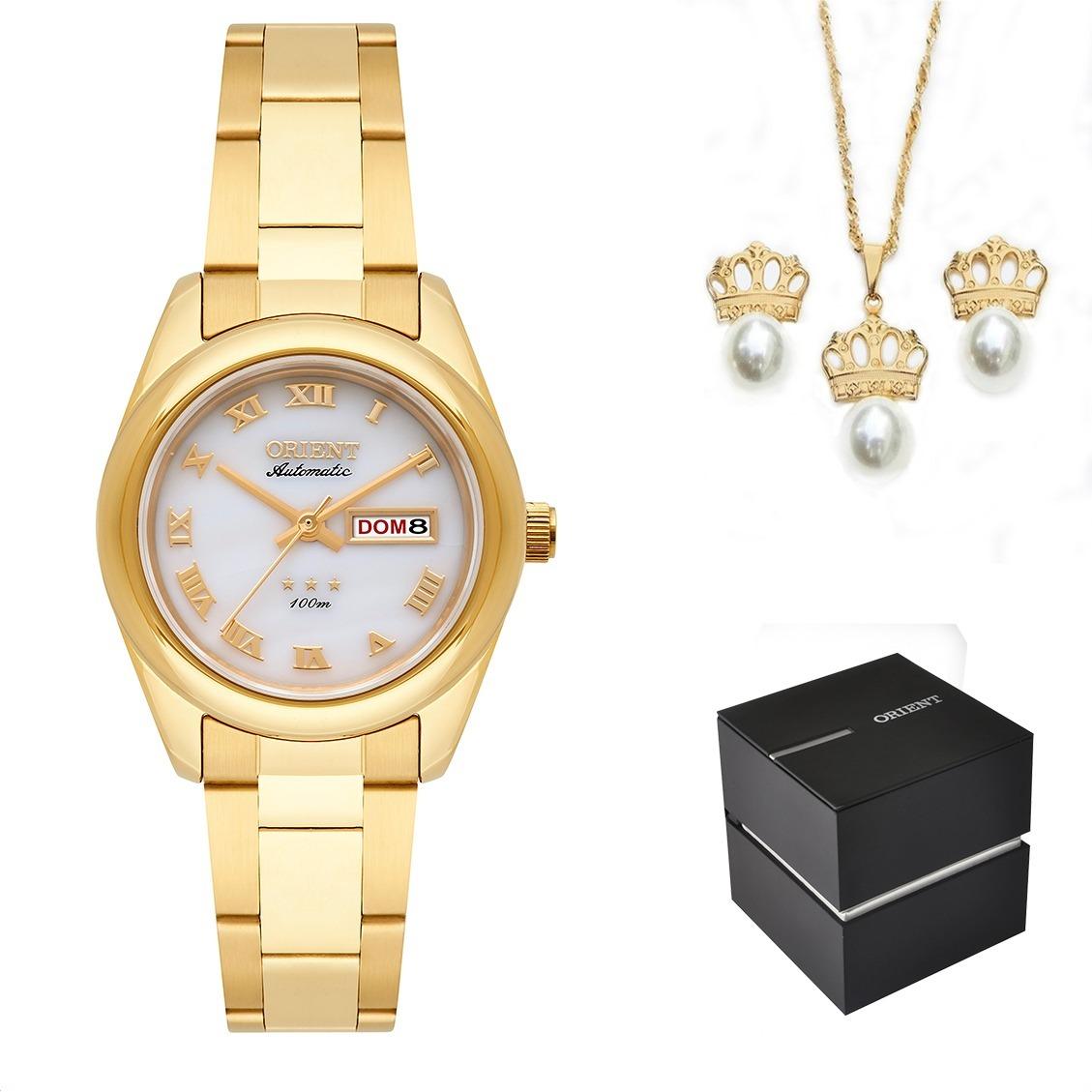 8d1d1336906 kit relógio orient feminino automático 559gp009 b3kx + nota. Carregando  zoom.