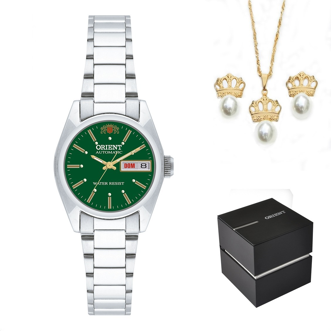a2d12f020b6 Kit Relógio Orient Feminino Automático 559wc8x E1sx + Nota - R  618 ...