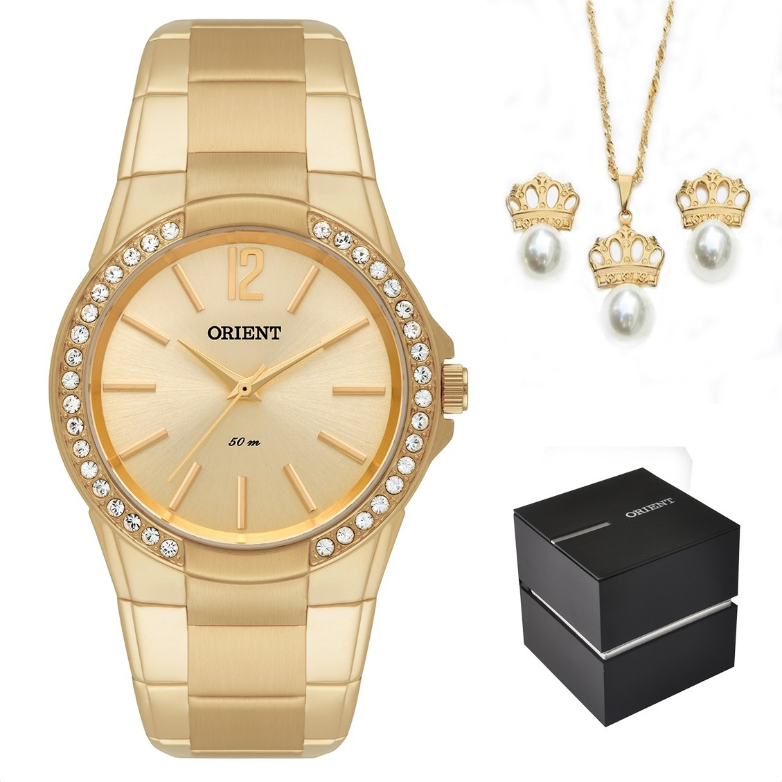 a977f92f3aa kit relógio orient feminino dourado fgss0048 c2kx original. Carregando zoom.