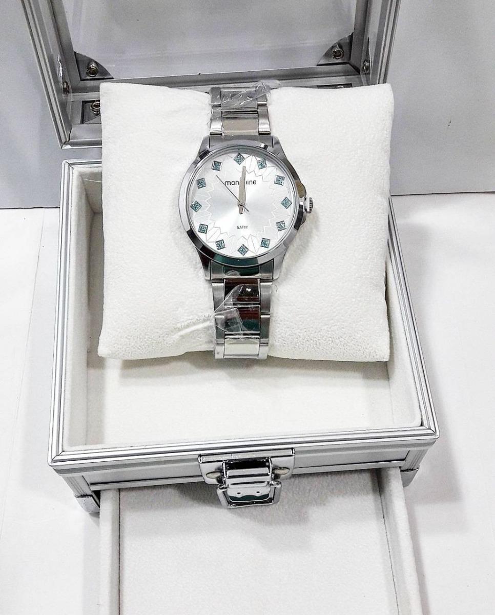 21a780a00b8 kit relógio prata mondaine feminino + porta jóias 53549l0mkn. Carregando  zoom.