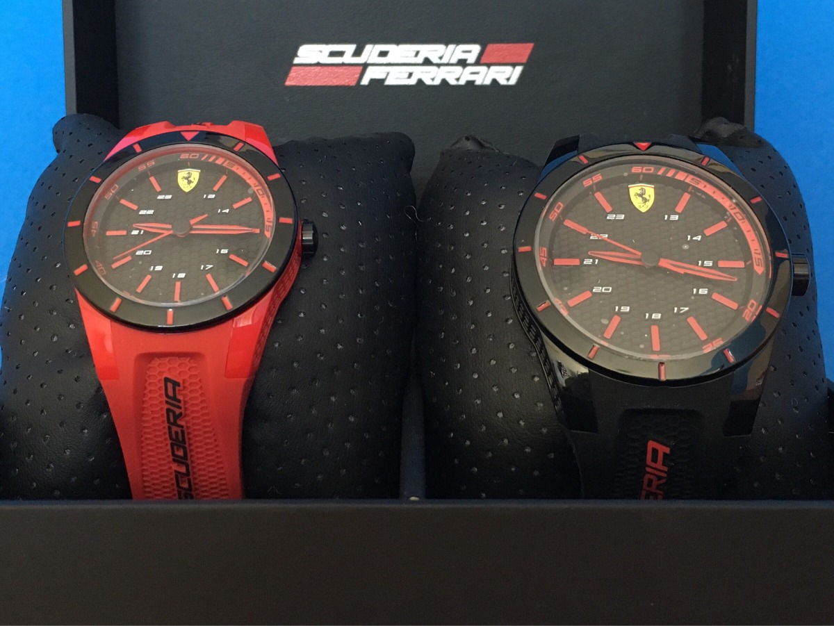 557144b3cd3 kit relógio scuderia ferrari casal. Carregando zoom.