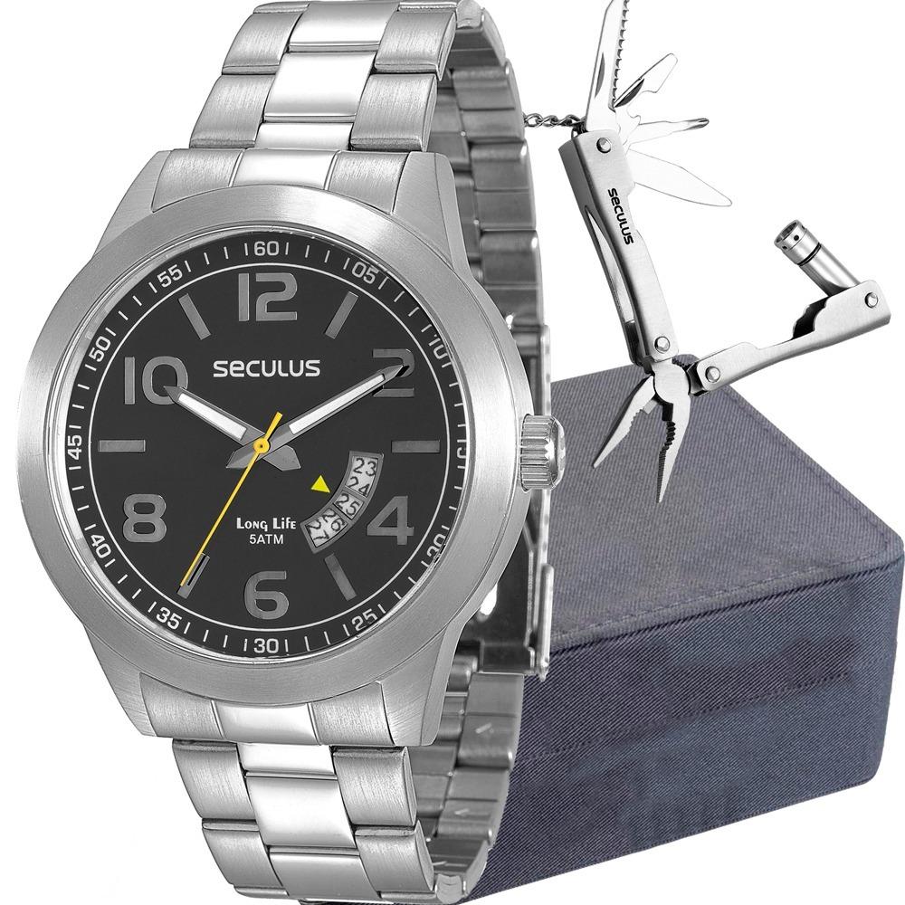 20016f646 kit relógio seculus masculino com canivete 28697g0svna1k1. Carregando zoom.