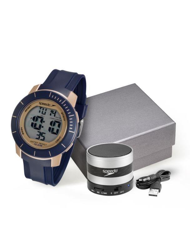 a4afc76613a Kit Relógio Speedo Masculino + Caixa De Som 80601g0evnp3k1 - R ...