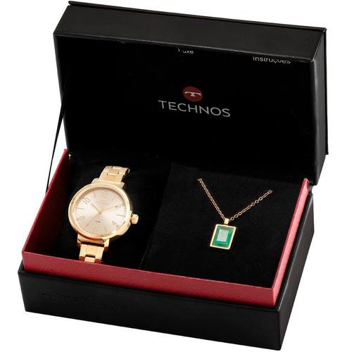 kit relógio technos feminino barato + brinde garantia nfe
