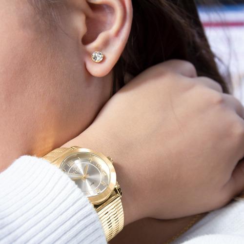 kit relógio technos feminino barato + brinde original nfe