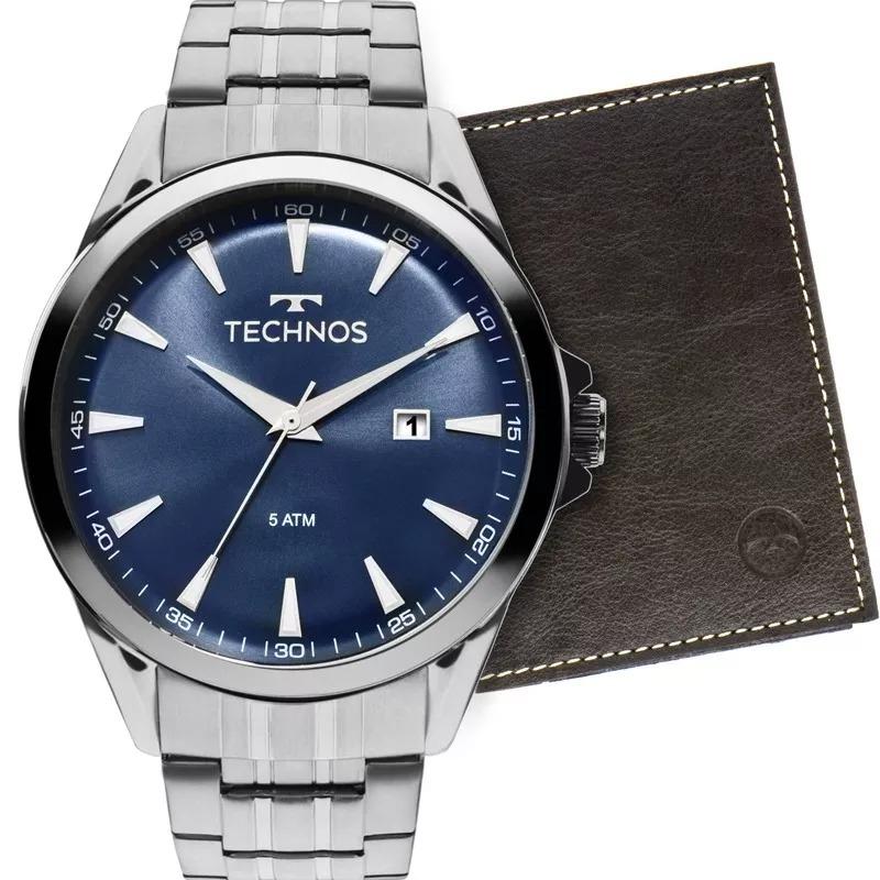 bb027c1e382 kit relógio technos masculino aço classic executivo - nf. Carregando zoom.