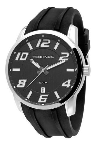 kit relógio technos masculino racer 2315zy/8p + carteira