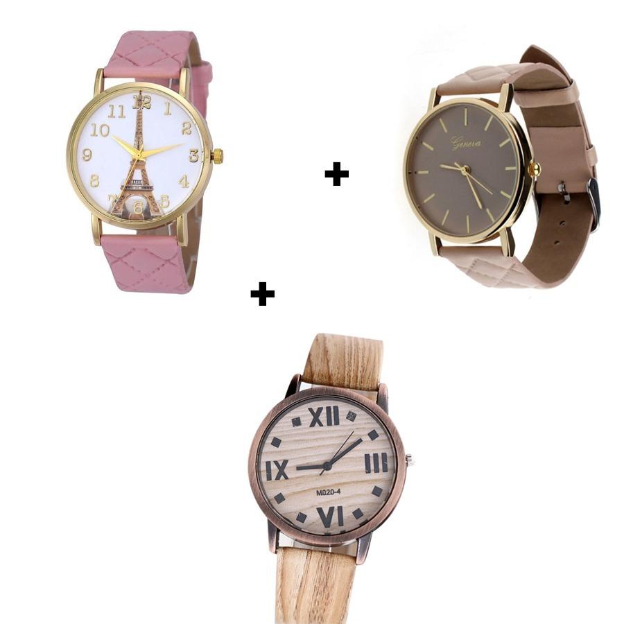 cbea71f4376 kit relógios femininos madeira bege e rosa discretos bonitos. Carregando  zoom.
