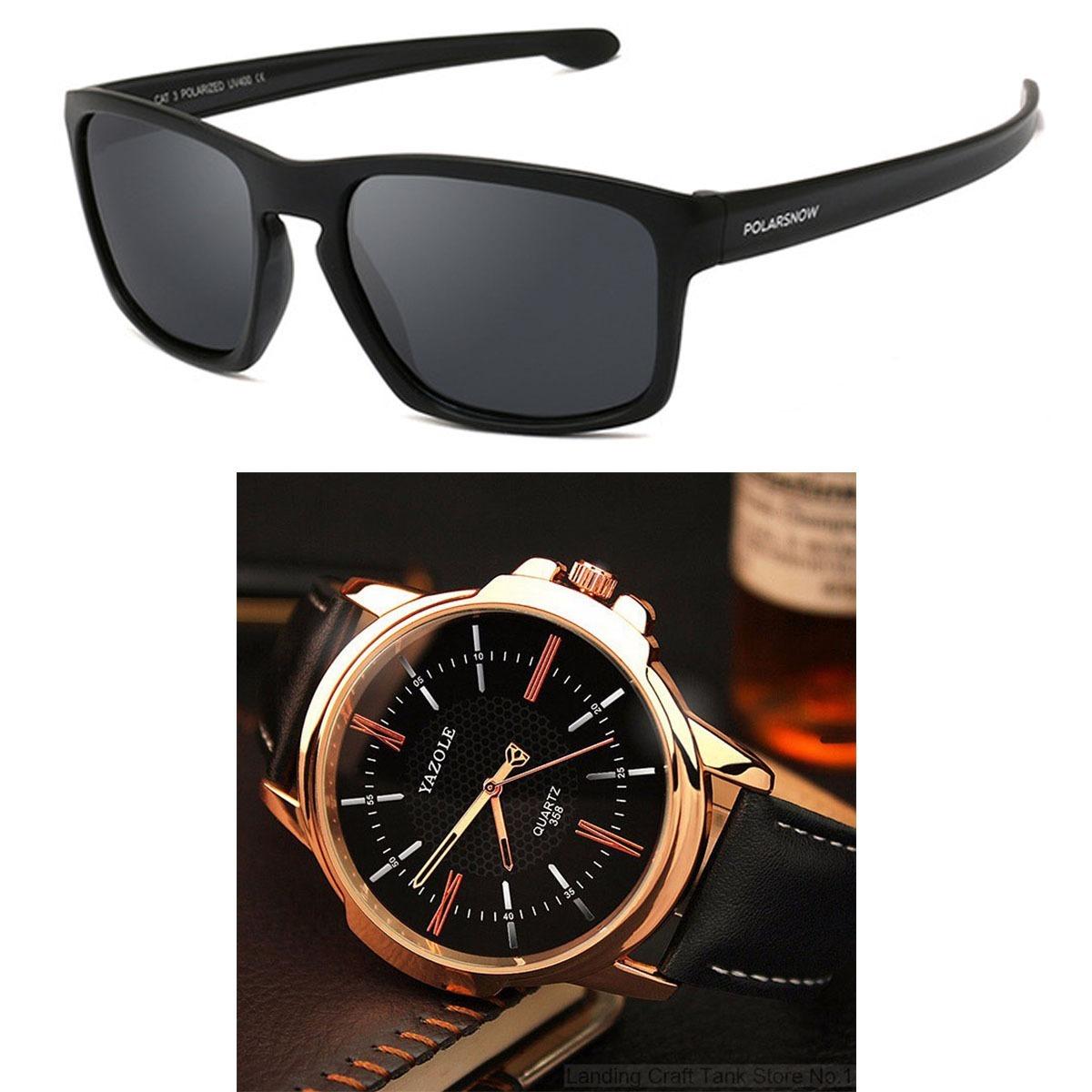 330c2de746 kit relógios masculinos baratos + óculos masculino p8966 n4p. Carregando  zoom.