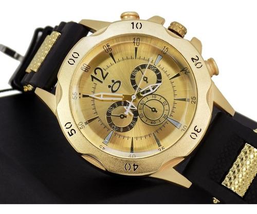 kit relógios masculinos com 3 unidades pulseira silicone