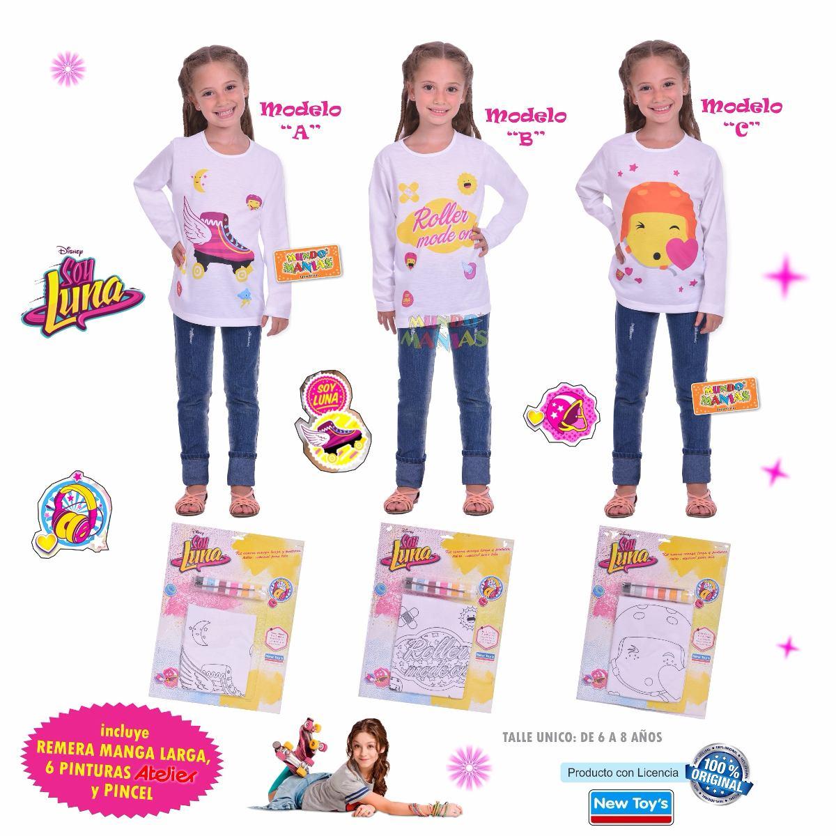 Kit Remera Para Pintar Disney Soy Luna Newtoys Mundo Manias