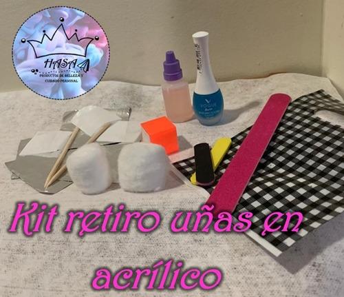 kit removedor de uñas semipermanente y acrílico