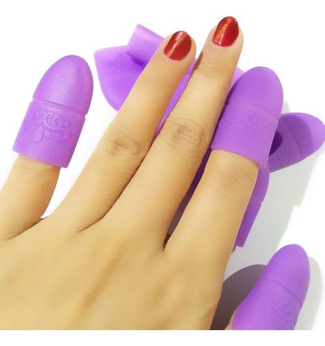 kit removedor esmaltado permanente + dedales/ manicure/ped.