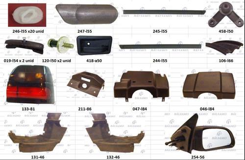 kit renault r19 embellecedores plasticos, molduras y faro tr
