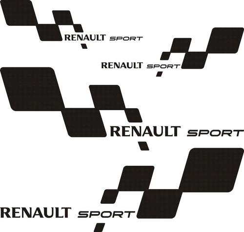 kit renault sport chico incluye 4 calcos graficastuning