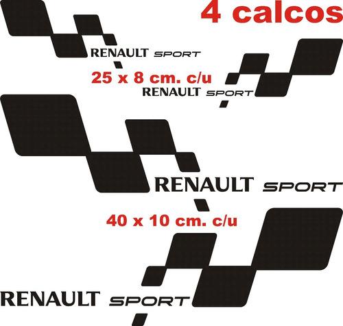kit renault sport grande incluye 4 calcos graficastuning