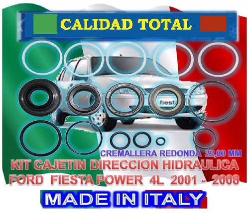 kit reparacion cajetin r&p direccion fiesta power cremal red