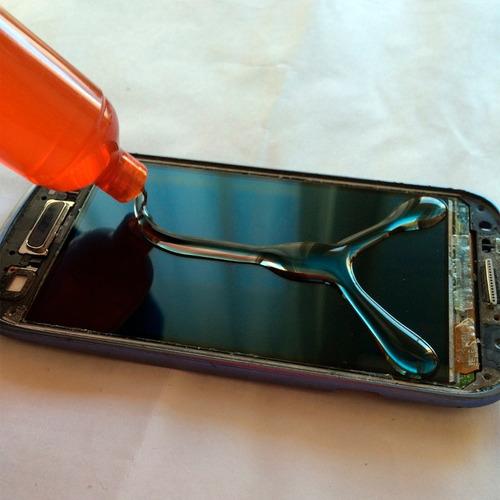 kit reparacion espatula + pegamento uv + alambre molibdeno