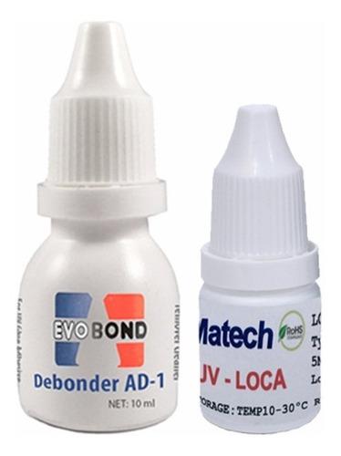 kit reparacion pegamento gel uv + removedor uv samsung