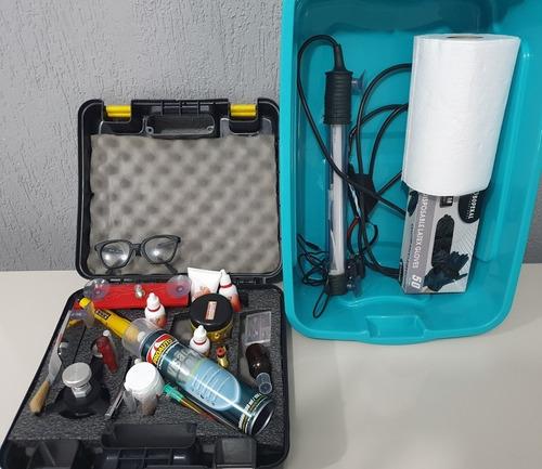 kit reparação de parabrisa euro rogers profissional