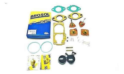 kit reparo brosol carburador 32 pdsit 2/3 gas  fusca itamar