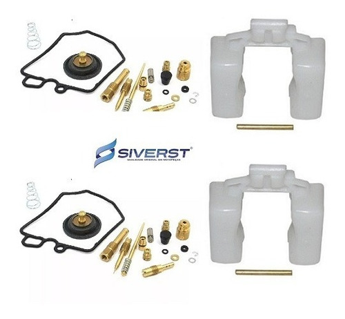 kit reparo carburador + boia (02 pares) cb 400 siverst