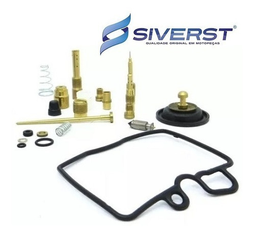 kit reparo carburador + boia (02 pares) cb 450 siverst
