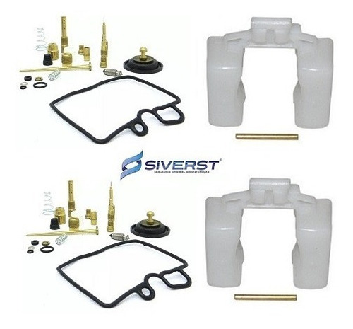 kit reparo carburador + boia (02 pares) siverst cb 450