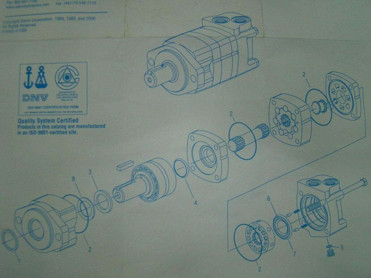 Kit Reparo Motor Hidráulico Eaton/char-lynn