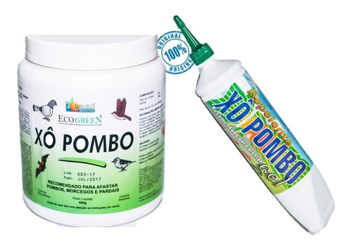 kit repelente xo pombo pote pastilhas 400g + gel 250 g promo