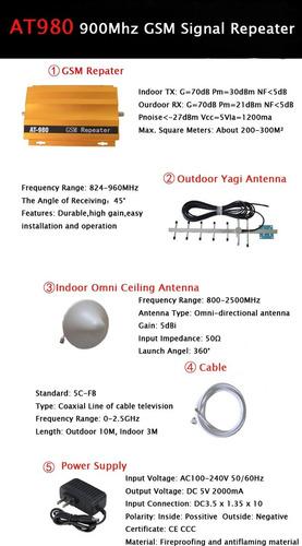 kit repetidor señal celular internet 3g booster amplificador
