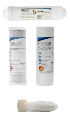 kit repuesto de filtros o cartuchos para osmosis + membrana