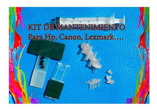kit repuestos para sistemas continuos de tinta hp, canon,