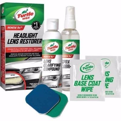 kit restaurador reparador y pulidor faros turtle wax autos