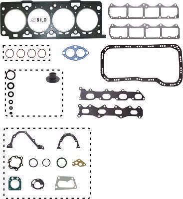 kit retifica motor aço fiat palio 178e7 1.6 16v 4cil 01/
