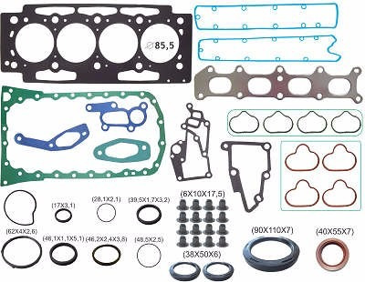 kit retifica motor c/ret peugeot 206 307 2.0 16v 00/04