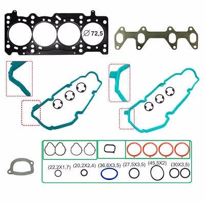 kit retifica motor superior aço fiat grand siena 1.0 8v 09/