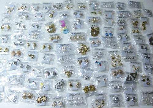 kit revenda 50 brincos bijuterias atacado mais barato do ml