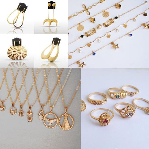 kit  revenda de semi joias pulseiras, gargantilhas, anéis