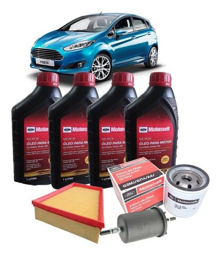 kit revisão óleo 5w30 e filtros, ford new fiesta sigma 16v