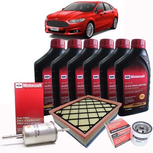 kit revisão óleo 5w30, filtros fusion 2.0 ecoboost 2012/2020