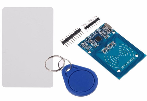 kit rfid rc522 13,56 mhz leitor + cartão + tag arduino
