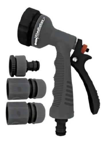 kit riego acoples pistola 4 piezas gladiator manguera 1/2